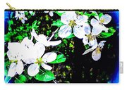 Apple Blossoms In Blue White Mist Carry-all Pouch