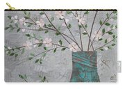 Apple Blossoms In Turquoise Vase Carry-all Pouch