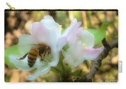 Apple Blossoms With Honey Bee Carry-all Pouch