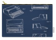Apple Macintosh Patent 1983 Blue Carry-all Pouch