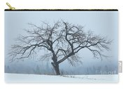 Apple Tree In Winter Fog Carry-all Pouch