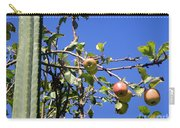 Apple Tree With Apples And Flowers. Amazing Nature Carry-all Pouch