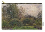 Apple Trees And Poplars In The Setting Sun Carry-all Pouch by Camille Pissarro
