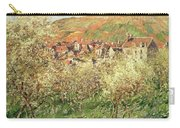 Apple Trees In Blossom Carry-all Pouch by Claude Monet