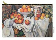 Apples And Oranges Carry-all Pouch by Paul Cezanne