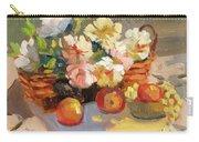 Apples And Peonies Carry-all Pouch
