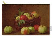 Apples In A Basket And On A Table Carry-all Pouch by Ignace Henri Jean Fantin-Latour
