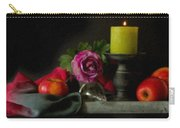 Apples Rose And Candlestick On Tray Stl712923 Carry-all Pouch