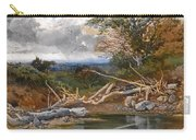 Approaching Storm In A Wooded Landscape Carry-all Pouch