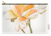 Apricot Rose Carry-all Pouch