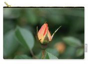 Apricot Rose Bud 3 Carry-all Pouch