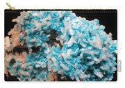 Aqua And White Gemstone Carry-all Pouch