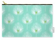 Aqua And White Palm Leaves- Art By Linda Woods Carry-all Pouch