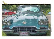 Aqua Blue 1959 Corvette  Carry-all Pouch