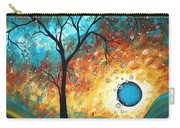 Aqua Burn By Madart Carry-all Pouch by Megan Duncanson