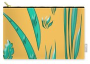 Aqua Design On Gold Carry-all Pouch