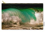 Aqua Green Wave Carry-all Pouch