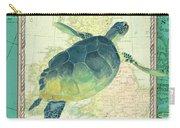 Aqua Maritime Sea Turtle Carry-all Pouch