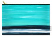 Aqua Sky - Bold Abstract Landscape Art Carry-all Pouch by Sharon Cummings