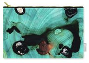 Aqua Teal Art - Volley - Sharon Cummings Carry-all Pouch