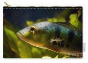 Aquarium Striped Fish Portrait Carry-all Pouch