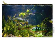 Aquarium Striped Fishes Group Carry-all Pouch