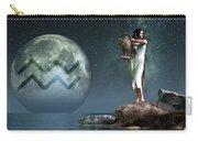 Aquarius Zodiac Symbol Carry-all Pouch by Daniel Eskridge