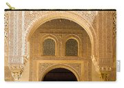 Arabesque Ornamental Designs At The Casa Real In The Nasrid Palaces At The Alhambra Carry-all Pouch