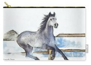 Arabian Horse And Snow - Pa Carry-all Pouch