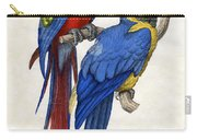 Aracangua And Blue And Yellow Macaw Carry-all Pouch