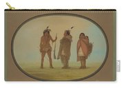 Arapaho Chief, His Wife, And A Warrior Carry-all Pouch