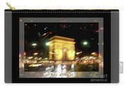 Arc De Triomphe By Bus Tour Greeting Card Poster V1 Carry-all Pouch