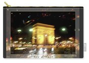 Arc De Triomphe By Bus Tour Greeting Card Poster V2 Carry-all Pouch