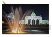 Arcade Du Cinquantenaire Fountain At Night - Brussels Carry-all Pouch by Barry O Carroll