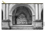 Arch At Fontevraud Abbey Bw Carry-all Pouch