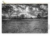 Arch Swing Set In The Park 76 In Black And White Carry-all Pouch