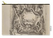 Architectural Motif With A Landscape Carry-all Pouch