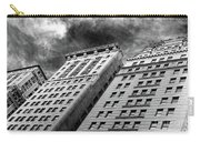 Architecture Tall Buildings Bw Nyc  Carry-all Pouch