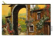 Arco Di Paese Carry-all Pouch by Guido Borelli