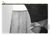 Arcs And Tangents Houston Water Wall In Black And White Carry-all Pouch
