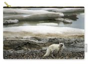 Arctic Fox By Frozen Ocean Carry-all Pouch