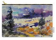 Ardennes Landscape Watercolor Carry-all Pouch