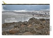 Area By Godafoss Waterfalls, Iceland Carry-all Pouch
