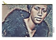 Aretha Franklin Abstract Art Carry-all Pouch