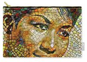 Aretha Franklin Tribute Mosaic Portrait 3 Carry-all Pouch