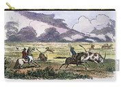 Argentina: Gauchos, 1853. Gauchos Catching Cattle On The Argentine Pampas. Wood Engraving, American, 1853 Carry-all Pouch