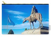 Argentinian Flag And Julio Roca-1843 To 1914-sculpture In Central Park In Bariloche-argentina  Carry-all Pouch
