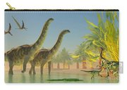 Argentinosaurus In Lake Carry-all Pouch