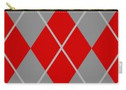 Argyle Diamond With Crisscross Lines In Paris Gray N02-p0126 Carry-all Pouch
