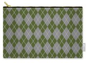 Argyle Diamond With Crisscross Lines In Paris Gray T09-p0126 Carry-all Pouch